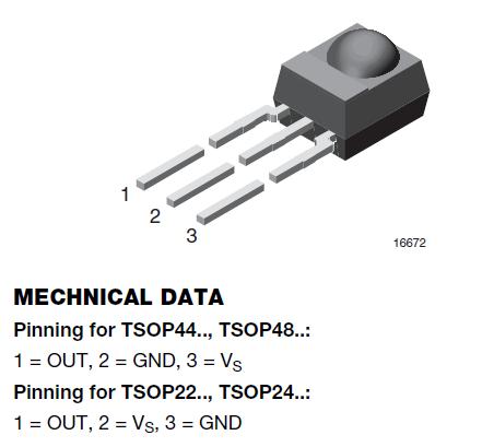 Pinbelegung TSOP48xx